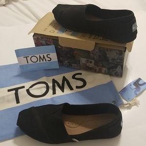 Toms classics black burlap